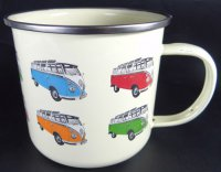 VW - Bulli  - Tasse - Bulliparade - retro - emaille