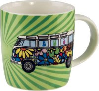 vw bus t1 flower power samba bus wandtattoo. Black Bedroom Furniture Sets. Home Design Ideas