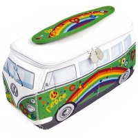 VW T1 Bus 3D Neopren Universaltasche - Flower Power Peace