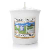 Yankee Candle Duftkerze Clean Cotton - Votivkerze