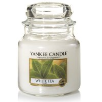 Yankee Candle Duftkerze White Tea 411g