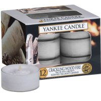 Yankee Candle Teelichter Crackling Wood Fire - 12er Pack