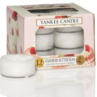 Yankee Candle Teelichter Strawberry Buttercream - 12er Pack