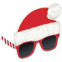 coole Weihnachtsmann - Party-Brille