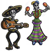 tanzende Skelett-Figuren - Day of the dead - beweglich