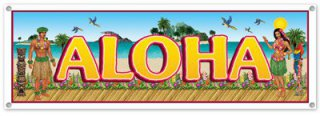 Aloha - Banner zur Beach-Party