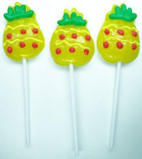 Ananas - Lolly - gelb
