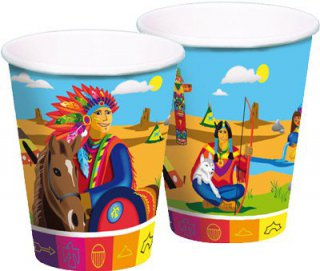 Becher - Indianer
