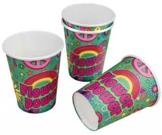Becher - Peace & Flower Power