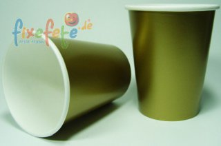 Becher - gold-metallic