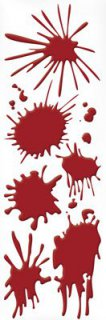 Blut-Flecken - Gel-Sticker