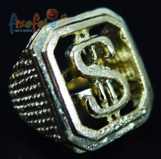 Dollar-Ring - gold