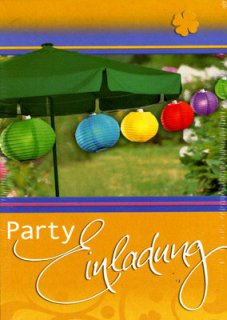 Einladungskarten - Gartenparty - Grillparty