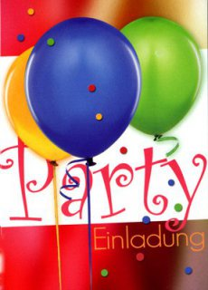 Einladungskarten - Luftballon-Party