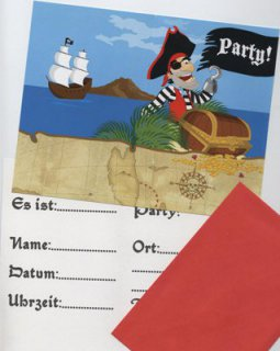 Einladungskarten - Piratenparty
