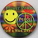 Flower-Power - Peace - Button