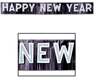 Fransen-Banner - Happy New Year - metallic