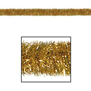 Fransen-Girlande - gold-metallic - Lametta - Tinsel