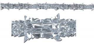 Girlande - silber-metallic