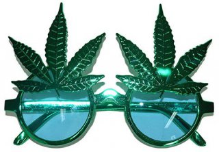 Hanfbrille zur Hippie-Party