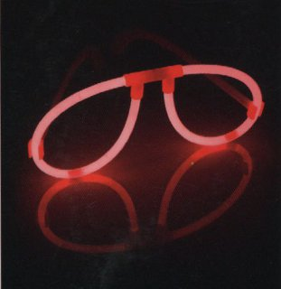 Knicklicht-Brille - orange