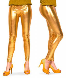 Leggings gold metallic - Größe S/M