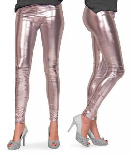 Leggings silber metallic - Gr��e L/XL