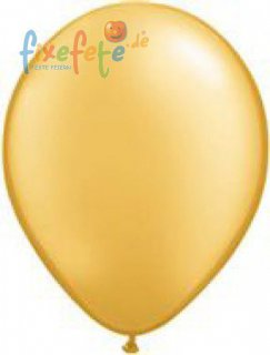 Luftballons - gold - metallic