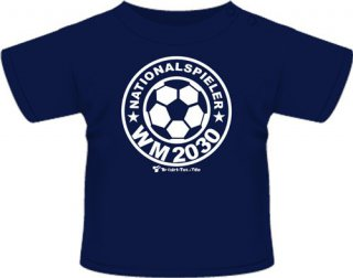 Nationalspieler WM 2030 - T-Shirt - dunkelblau - Gr. 134/140