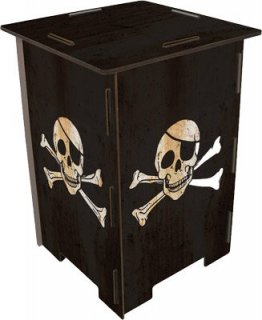 Piratenflagge - Totenkopf - Hocker