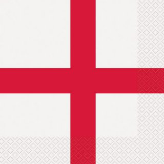 Servietten - England - St. George Cross