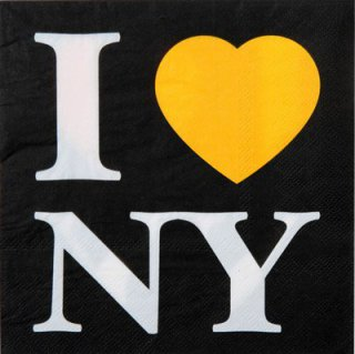 Servietten - New York - I love NY