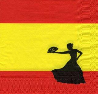 Servietten spanien spanische nacht - Spanische tischdekoration ...