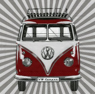 Servietten - VW T1 Camper - Stripes