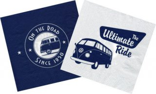 Servietten - VW T1 - On the road since 1950
