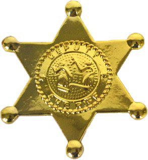 Sheriff-Stern - gold