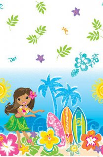 Tischdecke - Hawaii-Party - Hula-Girl