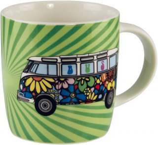 VW - Bulli  - Tasse - Love Bus - Flower Power