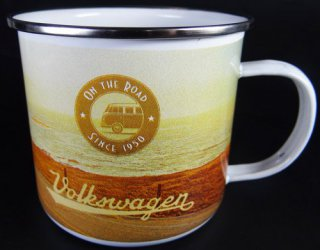 VW - Bulli  - Tasse - vintage on the road - retro - emaille