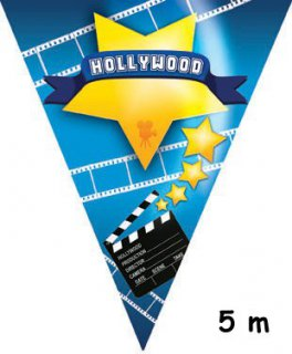 Wimpelkette - Hollywood - Kino - 5 m