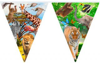 Wimpelkette - Safari-Party - 10 m