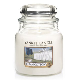 Yankee Candle Duftkerze Clean Cotton 411g