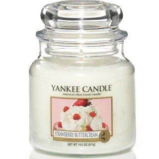 Yankee Candle Duftkerze Strawberry Buttercream 411g