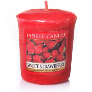 Yankee Candle Duftkerze Sweet Strawberry - Votivkerze