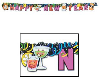witziger Happy-New-Year - PARTY-Banner