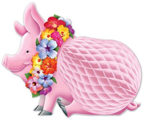 Tisch Wabendeko Hula Schwein