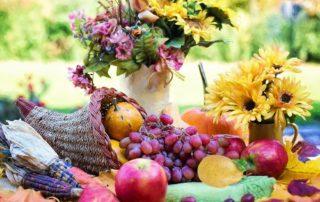 gedeckter Herbsttisch