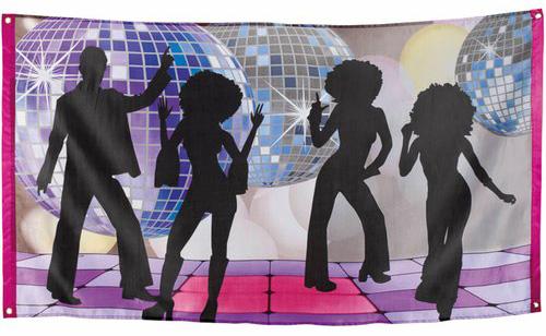 funky Disco Dekofahne