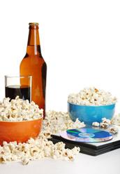 Kinoparty Bier und Popcorn