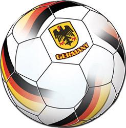 Fußballparty mit Deutschland-Deko zum EM-Support
